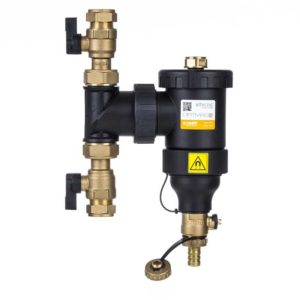 Caleffi DIRTMAG® IQ - Dirt separator with ball valves and magnet