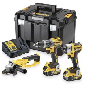 Dewalt DCK383P2T 18V Brushless Triple Kit With 2X5AH Batteries