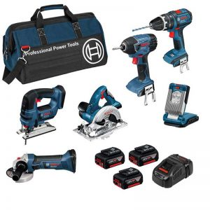 Bosch BAG+6RS5 18V 6 Piece Kit With 3X5AH Batteries