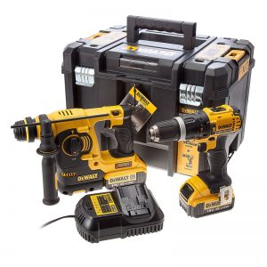 Dewalt DCK206M2T 18V Combi Drill And SDS Drill With 2X4AH Batteries