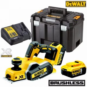 Dewalt DCP580P2 18V XR Brushless Planer 2 X 5AH Li-ion Batteries
