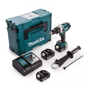 Makita DHP458RF3J 18v LXT Combi Drill with 3x3ah Li-ion-Batteries-2-1