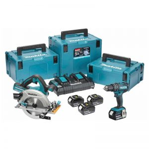 Makita DLX2140PMJ 18V 2 Piece Kit DHP482/DHS718 4X4AH Li-ion Batteries