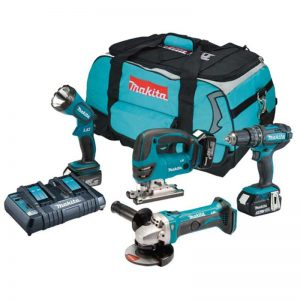 Makita DLX4051PM1 18V 4PC Combi Kit With 3X4AH Batteries