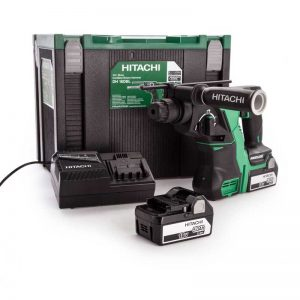 Hitachi DH18DBL/JP 18V Brushless SDS+ Hammer Drill With 2X5AH Batteries