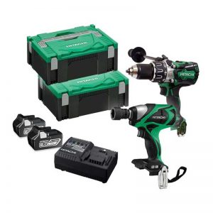 Hitachi KC18DPL/JB 18V Li-ion Combi Drill/Impact Wrench Kit With 2 X 6.0AH Batteries