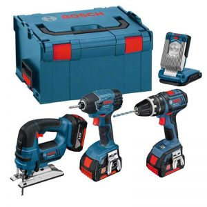 Bosch LBOXX4KIT 4 Piece 18V Kit With 3X3AH Batteries And L-BOXX