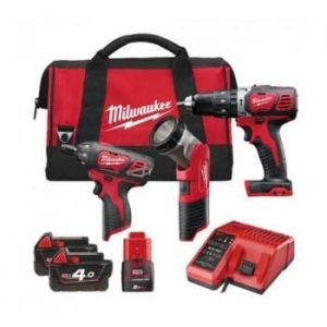 Milwaukee M18SET2J-423B 18V/12V Triple Pack With Batteries And Charger