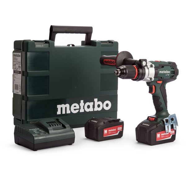 METABO SB18LTX Power Extreme Impuls Combi Drill with 2x5.2ah Batteries