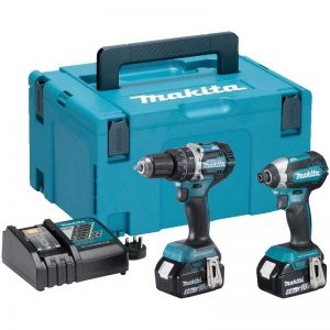 Makita DLX2180TJ 18V DHP484/DTD153 Twin Pack With 2X5AH Li-ion Batteries