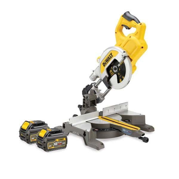 DeWALT DCS777T2 54 Volt XR Flexvolt Cordless Mitre Saw, 2 x 6.0Ah Batteries