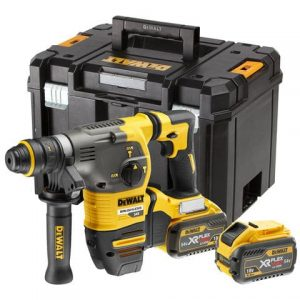 Dewalt DCH334X2 54V Flexvolt SDS+ Hammer Drill With Quick Change Chuck And 2X9AH Batteries