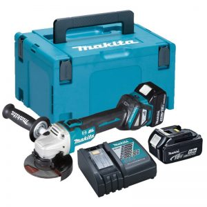 Makita DGA513RTJ 18V Brushless 125mm Grinder With 2X5AH Batteries