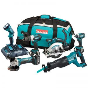 Makita DLX6072PT 18V Six Piece Combi Kit With 3X5AH Batteries