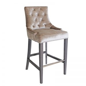 Belvedere Knockberback Bar Chair Champagne Angle