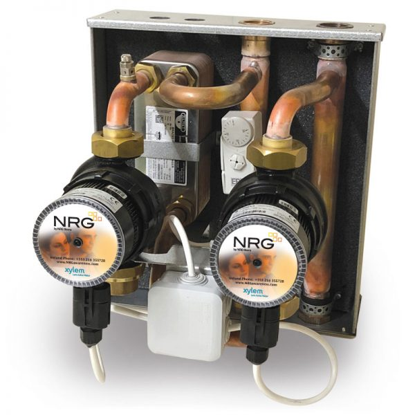 NRgz Link, interconnect open solid fuel systems to sealed heating systems