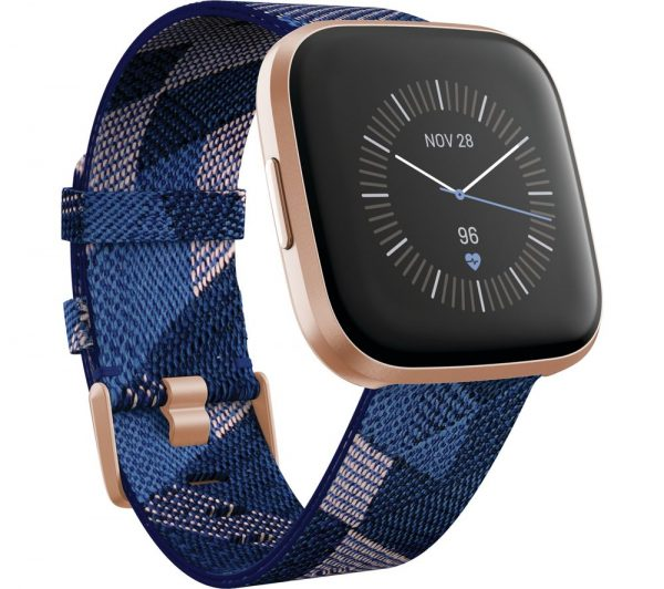 Fitbit Versa 2 Special Edition Navy & Pink woven