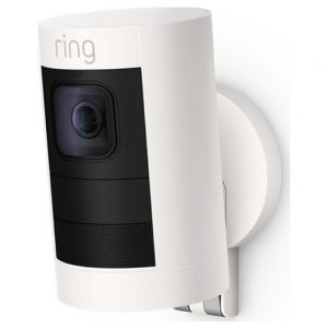 White stick up cam ring door bell