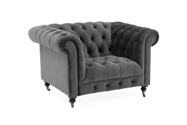 Darby 1 Seater Grey Angled