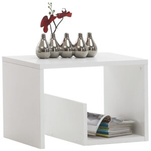 FMD Coffee Table 2-in-1 59.1×35.8×37.8 cm White