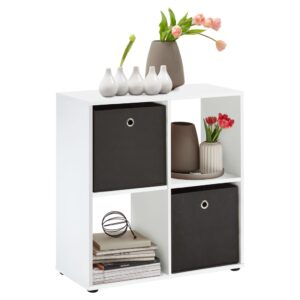 FMD Standing Shelf with 4 Compartments White
