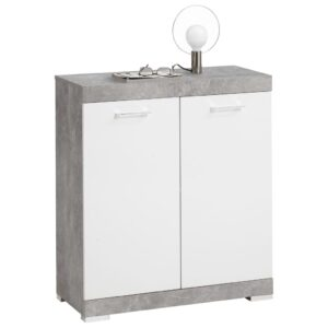 FMD Dresser with 2 Doors 80×34.9×89.9 cm White and Concrete