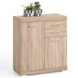 FMD Dresser with 2 Doors and 2 Drawers 80×34.9×89.9 cm Oak