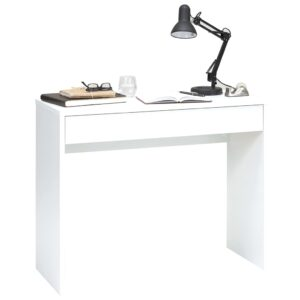 FMD Desk with Wide Drawer 100x40x80 cm White