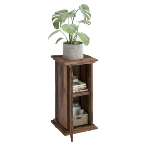 FMD Accent Table with Door 57.4cm Old Style Dark