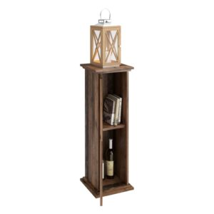 FMD Accent Table with Door 88.5cm Old Style Dark