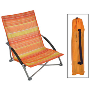 HI Folding Beach Chair Orange 65x55x25/65cm