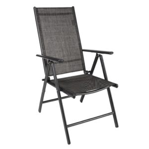 HI Reclining Garden Chair Aluminium Grey