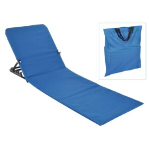 423979 HI Foldable Beach Mat Chair PVC Blue