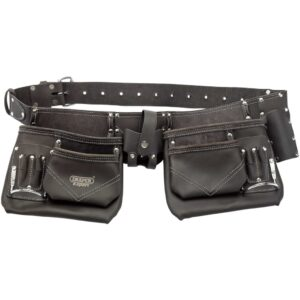 Draper Tools Oil-Tanned Leather Pouch Tool Belt Black 50 mm