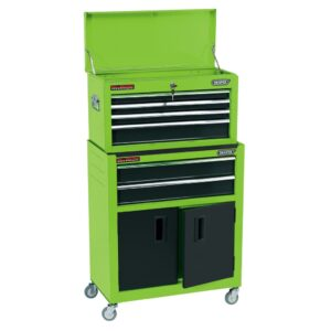 Draper Tools Combo Roller Cabinet and Tool Chest 61.6x33x99.8 cm Green