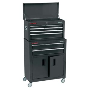 Draper Tools Combo Roller Cabinet and Tool Chest 61.6x33x99.8 cm Black