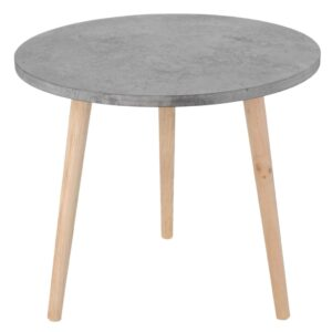 Home&Styling Side Table MDF Grey 42.5×49.5 cm