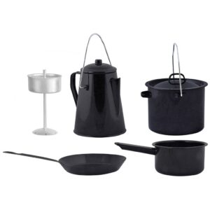 Esschert Design Four Piece Outdoor Cooking Set Black FF215