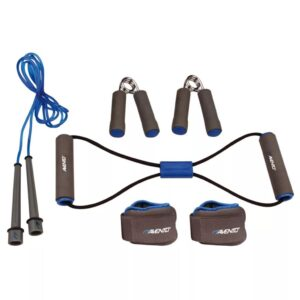 Avento Fitness Set Grey/Cobalt Blue/Black 41VE