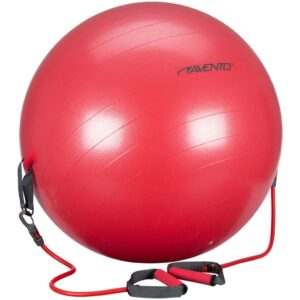 Avento Fitness Ball with Resistance Tubes 65 cm Red 41TO-ROG-65