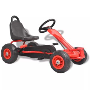 vidaXL Pedal Go-Kart with Pneumatic Tyres Red