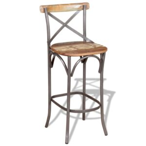 vidaXL Bar Chair Solid Reclaimed Wood
