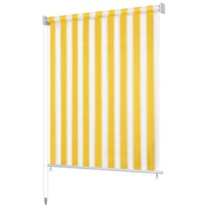 vidaXL Outdoor Roller Blind 240×140 cm Yellow and White Stripe