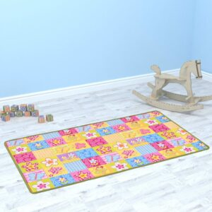 vidaXL Play Mat Loop Pile 67×120 cm Butterfly Pattern