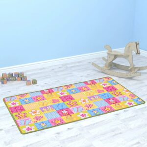 vidaXL Play Mat Loop Pile 133×180 cm Butterfly Pattern