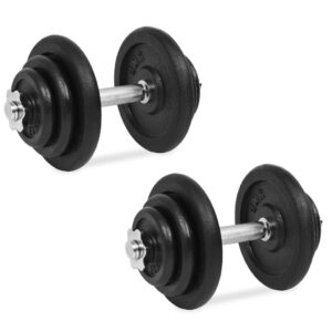 vidaXL 18 Piece Dumbbell Set 40 kg Cast Iron