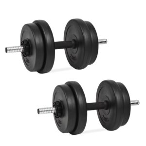 vidaXL 14 Piece Dumbbell Set 20 kg
