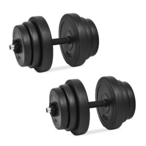 vidaXL 18 Piece Dumbbell Set 40 kg