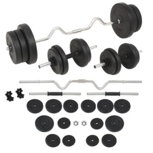 vidaXL Barbell and Dumbbell Set 60 kg