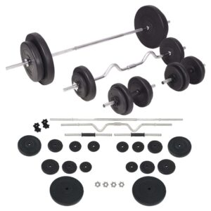 vidaXL Barbell and Dumbbell Set 90 kg